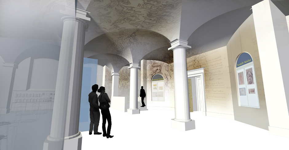 Visual for proposed projection at the painted hall greenwich